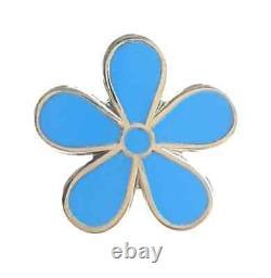 Masonic Flower Set Of 9 Forget Me Not 11mm Enamel Lapel Pin Badge