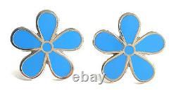 Masonic Set Of 2 Flower Forget Me Not 11MM Enamel Lapel Pin Badges