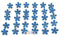Masonic Set Of 30 Flower Forget Me Not 11mm Enamel Lapel Pin Badges
