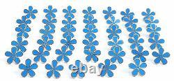 Masonic Set Of 40 Flower Forget Me Not 11mm Enamel Lapel Pin Badges