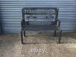 Memorial Bench For Garden Venue Poppy War Lest We Forget Seat Chair Steel Metal