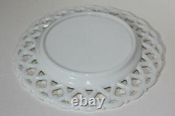 NEW Vintage Westmoreland Milk Glass Plate with Forget Me Not Lace Pattern