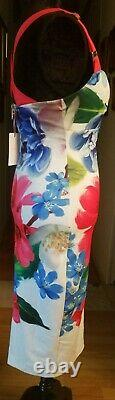 NWT Ted Baker Sz 6 Alexie Dress Forget Me Not Floral Crossover Straps Midi $297