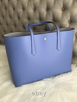 New Kate Spade molly large Blue Forget Me Not Large Tote + Wristlet Great gift