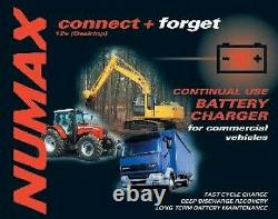 Numax Connect And Forget 12v 30ah Mobility Battery Charger- Commercial, Hgv