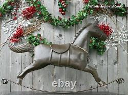 Pottery Barn Rocking Horse Object (large Bronze) -nib- Forget The Long Face