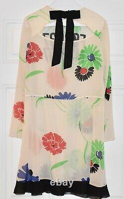 Red Valentino Silk Forget Me Not Floral Dress. Sz 40. $1095