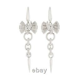 Stephen Webster Forget Me Knot Small Bow Drop Earrings in Sterling Silver