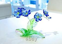Swarovski Crystal Forget-Me-Not Blue Flowers Love 5374947 Brand New In Box