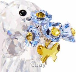 Swarovski Crystal Kris Bear Forget Me Not #5427993 Brand Nib Flowers Save$ F/s