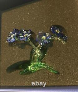 Swarovski Forget-me-not Figurine Large #5374947 NIB Crystal Blue Flower