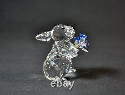 Swarovski Rabbit With Forget Me Not 1142953 Brand New In Box