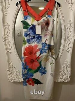 Ted Baker Alexa Forget Me Not Floral Dress Size 3/UK 12 BNWT