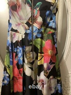Ted Baker Forget Me Not Midi Floral Dress Size 2 BNWT