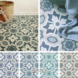 Victorian Tile Effect Cushion Sheet Vinyl Flooring Kitchen & Bathroom Lino