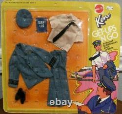 Vintage Barbie 1973 Get-ups'n Go American Airlines Pilot Uniform For Ken -nib