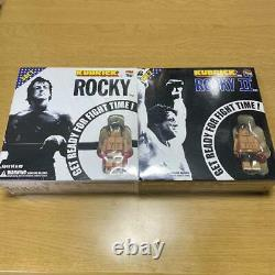 Vintage Medicom Toy Kubrick Rocky 100% Set 1 & 2 Get Ready For Fight Time New